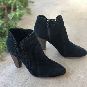 Vince Camuto Black Suede Ankle Boots Booties